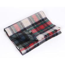Bufanda de lana de alpaca de moda de alta calidad en cuadros