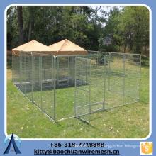 Baochuan - venta al por mayor 2 secciones animales cerca de las plumas grandes perros jugando jaulas impermeables mascotas perreras