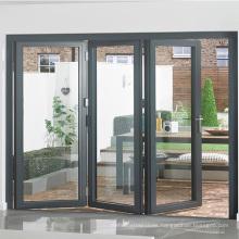 custom size outdoor transparent accordion screen glass door fold door aluminium patio double folding doors