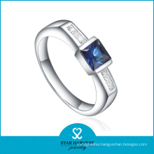 Luxury Sapphire 925 Sterling Silver Ring for Ladies (R-0271)