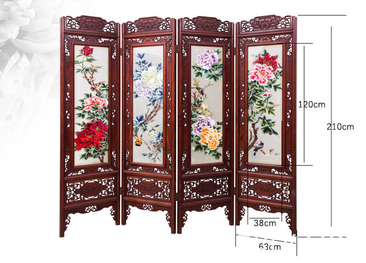 Hand Embroidered Folding Screen