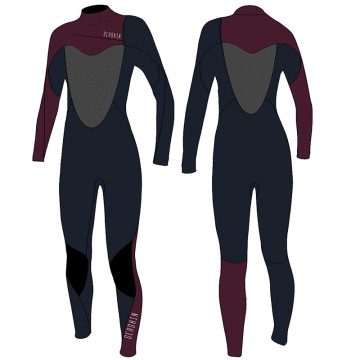 Seaskin 3 / 2mm Neoprene Womens Dada Zip Surfing Fullsuit