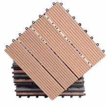 Weather resistant composite wood decking DIY 300X300 wpc outdoor on sale