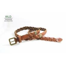 Mode Basic Braided Genuine Top en cuir Lady Belt Lky1188