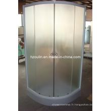 Salle de douche avec aluminium blanc (E-01White)