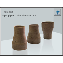 Paper pipe variable diameter tube
