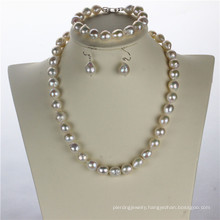 Snh Nautral Hot Sale Fresh Water Pearl Necklace Set