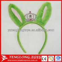 Halloween decorações crianças amado banda de cabelo verde plush com coroa