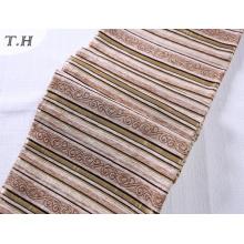 Die helle Farbe Chenille-Streifen für Sofa und Stuhl Stoff
