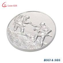 Silvery Metal Souvenir Coin for Gift