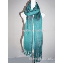 Fashion shining viscose pashmina scarf with shiny acrylic