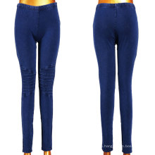 Gute Stretchy Dunkelblaue Frauen Denim Leggings