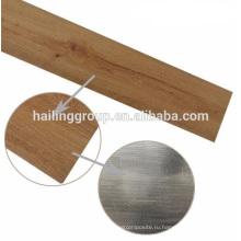 Крытое деревянное зерно виниловых досок настила PVC