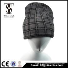 Hombres invierno de moda comprobado nudo de sombrero