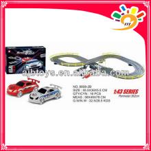 Batteriebetriebene Spielzeug Rennstrecke lange Spur Spielzeugauto mit Hand Generator