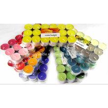 Vela perfumada Tealight cor 36PCS embalado pelo envoltório do psiquiatra