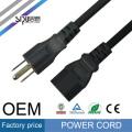 SIPU cable de alimentación de CA de alta velocidad para PC cable de computadora al por mayor de cable eléctrico Cable de alimentación de estilo de EE. UU.