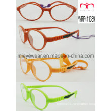 Optical Frame for Kids with Rubber Finish and Rubber Temple Fashionable (WRP411389)