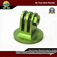 Grüne anodisierte elektrische Bearbeitungsteile CNC-Drehfräser-Aluminium CNC