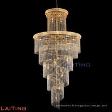 Chaîne d'intérieur lustre éclairage cristal escaliers lampe 61004