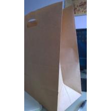 Maneje el bolso de papel Kraft 80GSM para el alimento, la ropa, el hacer compras