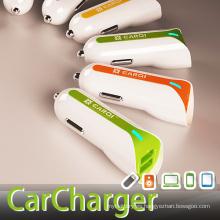 5V2.1A cargador doble del coche del USB del USB de la salida para el iPhone / iPad / Samsung / SAM TAB / Android