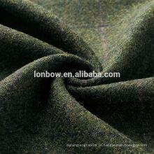 100% lã verde tecido de tweed vintage para tampa plana