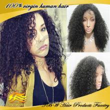 Горячие продавая человеческие волосы афро кудрявый вьющиеся кружева передние парики