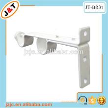 Doble varilla de metal cortina blanca