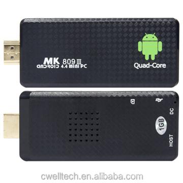Android TV Stick MK809 III 1080P Out Put RK3229 Quad Core 1GB RAM 8GB ROM Dual WIFI mini pc