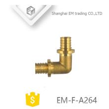 EM-F-A264 Latão de diâmetro macho circular dente cotovelo encaixe de tubulação de 90 graus
