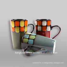 Выбитый Цвет Глазурованной и ручная роспись керамики кружка