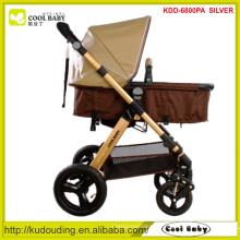 2015 NOVO Deluxe Baby Stroller 5-ponto arnês reversível assento Direção Big Wheel Pram personalizado cor