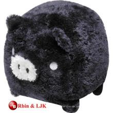 Treffen Sie EN71 und ASTM Standard schwarzes Plüsch Schwein