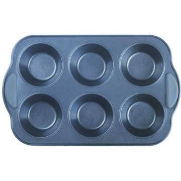 Silicone grip muffin cake pans