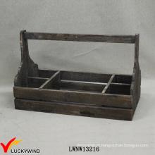 Alça, afligido, recicle, abeto, madeira, cesta, compartimentos