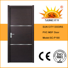 Cheapest China Factory Solid PVC Wooden Door (SC-P190)