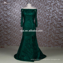 RSE644 Off The Shoulder Trumpet Mermaid Dark Green Mother Of The Bride Lace Dresses