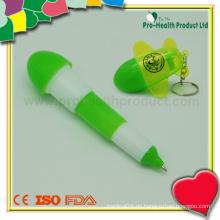 Werbung Falten Kunststoff Kugelschreiber mit Schlüsselbund