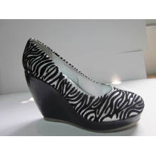 2016 Fashion High Heel Chuncky Damen Kleid Schuhe (HCY03-108)