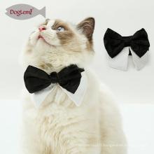 Gentleman Pet Cat Scarf Nouvelle conception noir et blanc Cat Bow Tie