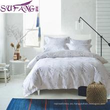 El precio directo de fábrica el lecho 100% del algodón 4pcs incluye la hoja de cama, cubierta de edredón, funda de almohada