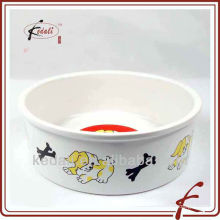 Фарфоровая чаша для питомца с деколью