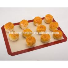 China fabricante profissional fabricante de alimentos resistentes ao calor antiaderente de fibra de vidro de silicone de cozimento Mat / Baking Mat Set 2-Pack
