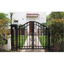 Elegant and Pastoralism Wrought Iron Gate for Your Yard