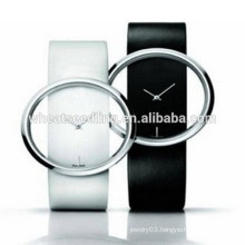 Circle style fashion leather watchband wholesale china watch