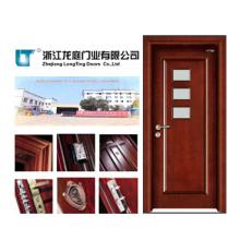 Puerta de cristal del dormitorio de la puerta del MDF de cristal interior (LTS-312)
