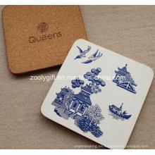 Logotipo y diseño de encargo Coaster del corcho Cojín de la taza del corcho