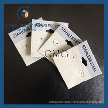Grey Plastic Card Velvet Covered Earring Display Hang Tag (CMG-099)
