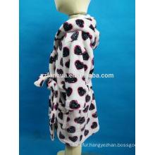 Kids Age Group Hooded Coral fleece bathrobe